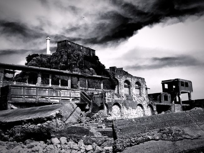 Ruined Building Japan Black & White Nagasaki Blackandwhite Ruin Hashima Battleshipisland Gunkanjima World Cultural Heritage Nagasaki JAPAN