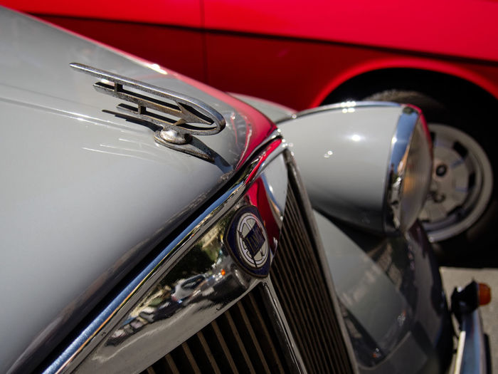 Classic Car Classic Cars ClassicWheels Close-up Collector's Car Day Headlight Italian Car Lancia Land Vehicle Luxury Mode Of Transport No People Old-fashioned Outdoors Red Retro Styled Transportation Vintage Car Wheels