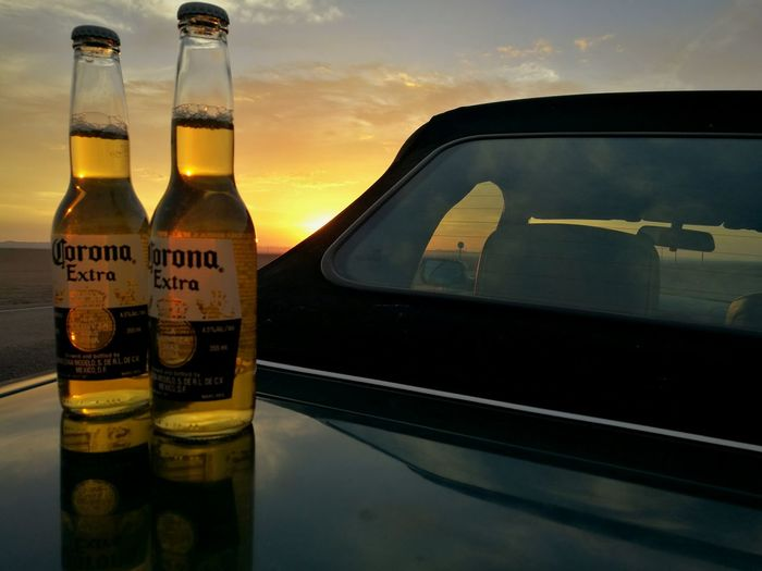 Corona Beer Iquique Chile♥ Desert Road Desert Landscape No People Car Desert Sunset Bmw HuaweiP9Photography Bottle Reflection Beach Corona Corona Extra Beer Bottle Beer Coronaextra Coronabeer CervezaCorona Cerveza Let's Go. Together. Sommergefühle