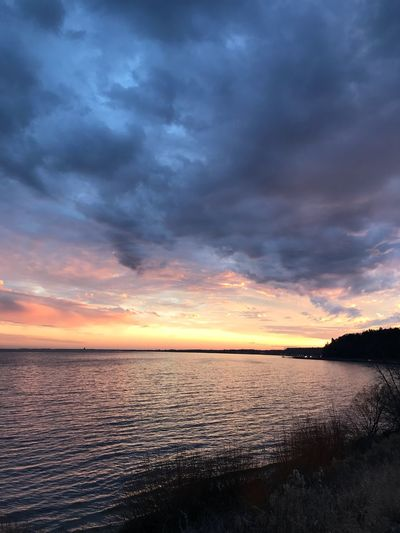 Sunset Tranquil Scene Scenics Beauty In Nature Tranquility Water Cloud - Sky Sky Nature Dramatic Sky Sea No People Idyllic Outdoors Horizon Over Water Day