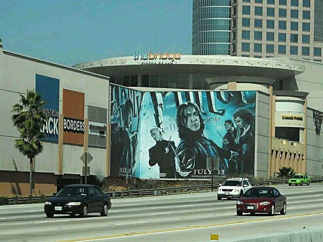 Snape Billboard 2009 Snape Severussnape Harrypotter HP Billboard California CA 2009 RIPSeverusSnape Freeway 405 405 Freeway Harry Potter