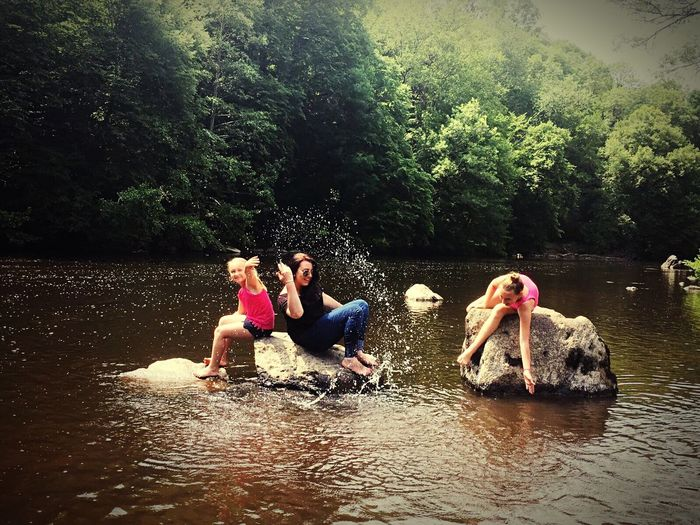 Fun Water Friendship Togetherness Young Adult Day Enjoyment Tree Lake Freedom Real People Leisure Activity Vacations Carefree Outdoors Getting Away From It All Full Length Vitality Young Women Nature First Eyeem Photo
