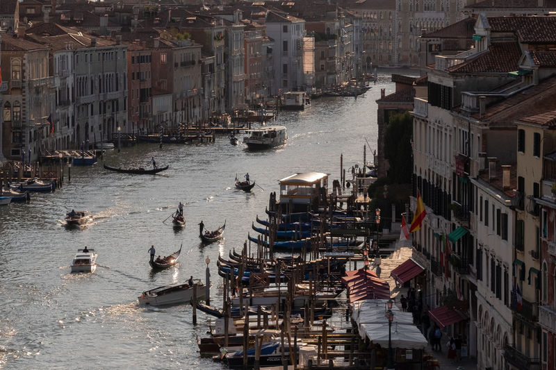 High angle view of canale grande in venice