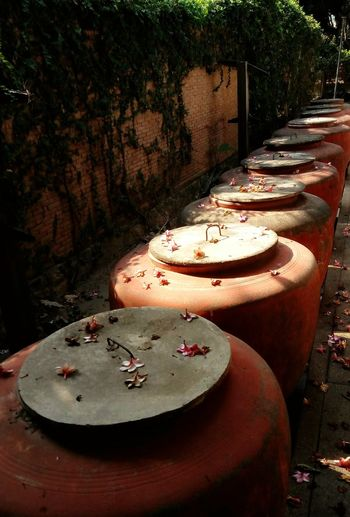 Rural Life Rural Scene Clay Pots Rural Place Wall Thai Rural Backyard Local Locallife