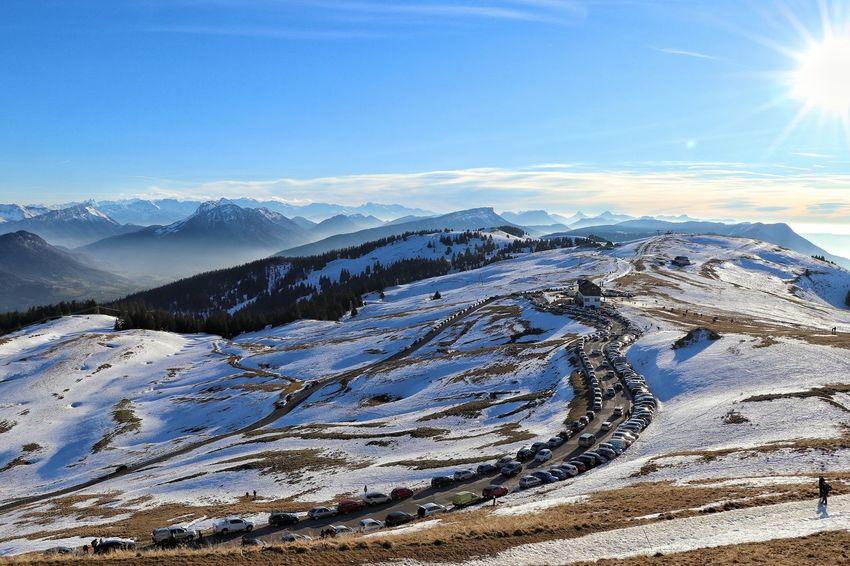 Mountain Snow Cold Temperature Winter Sky Landscape Mountain Range