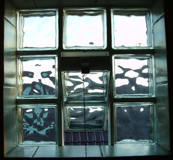 Glass Windows With Reflections Open View