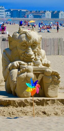 Sand castle competition☀️ Sculpture Travel Destinations Outdoors Beach Statue Sand Sky Close-up Beach Life Pinwheel Feet Sea Barefoot Beach Fun Digging In Sand Contest Ocean Photography Sandcastle Building Live For The Story