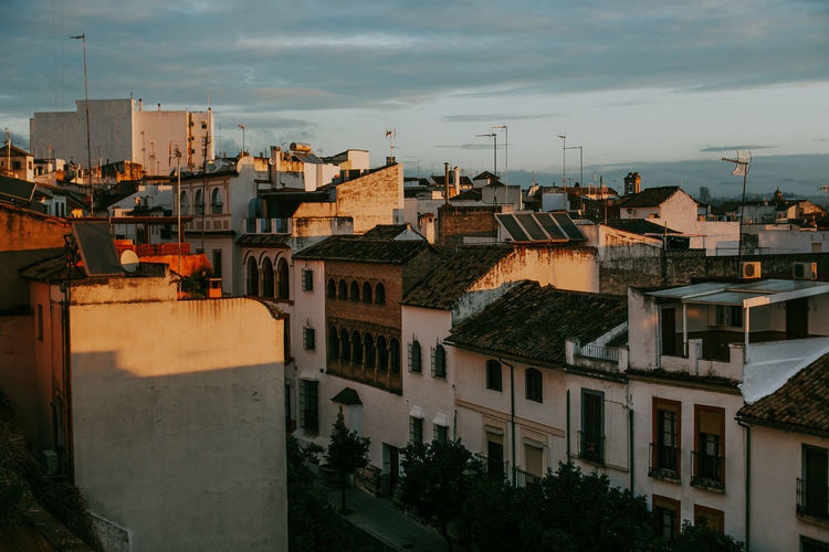 Architecture Building Exterior Built Structure Building City Sky Roof High Angle View Outdoors Town Cityscape TOWNSCAPE Apartment SPAIN Córdoba Travel Destinations Sunrise Morning Sunlight Shadow Capture Tomorrow