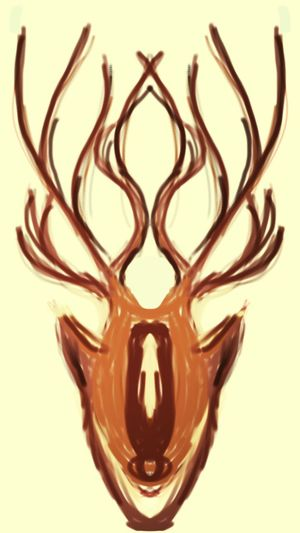 Deer head mural for a manager at work. Man Cave Art Painted By Me ;) From My Sketchbook