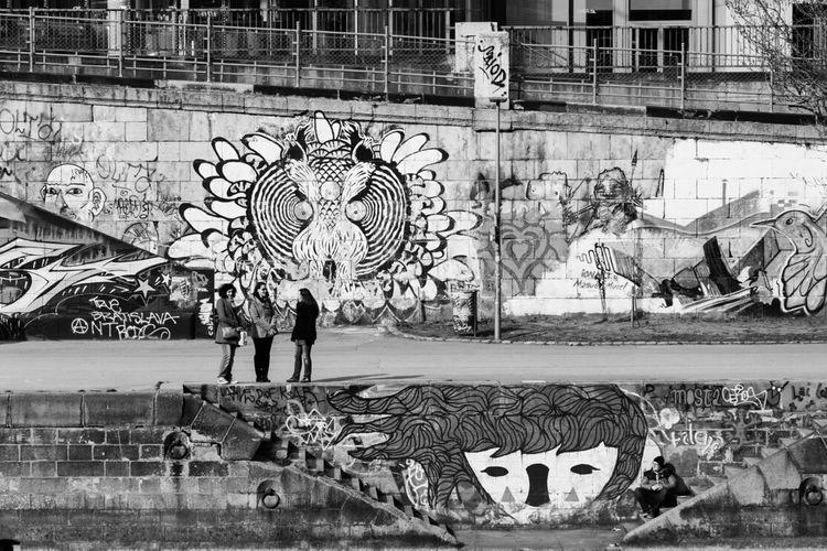 streetlife @ donaukanal , vienna Monochrome Black & White Black And White Streetlife
