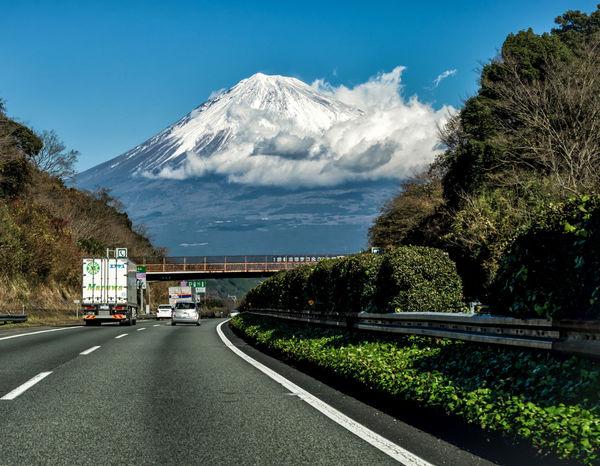 Mt. Fuji Up Ahead Japan ASIA Mtfuji Fujisan Landscape Colorphotography Shizuoka Traveling Highway Beautiful Omd-em1 Olympus Panasonic14140mm Cooljapan