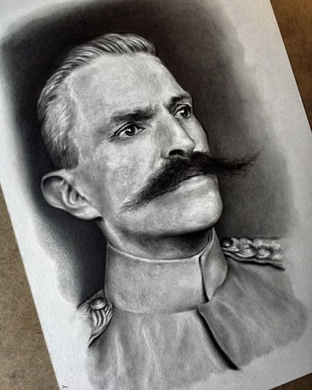 A portrait of Rudolf Maister that I did recently. Art, Drawing, Creativity My Artwork Artsy Check This Out Portraits Portrait Sketches Explore Draw Artist Drawing Artistic Arte Artoftheday Picture Beautiful Work Design Arts Creative People Art Sketching Sketchbook Sketch