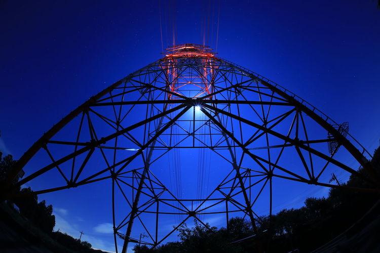 鉄塔 夜景 月明かり Night View