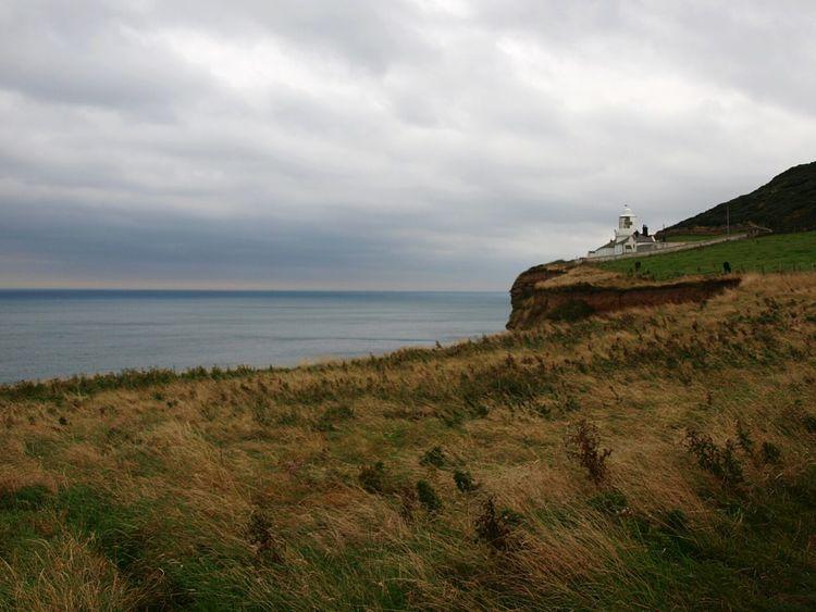 Grass Sea Coastline Cloudy Shore Water Horizon Over Water Coast Seascape Clouds Clifftop Cliffs Cliff Edge Coastal Walk Walking Around Yorkshire Coast