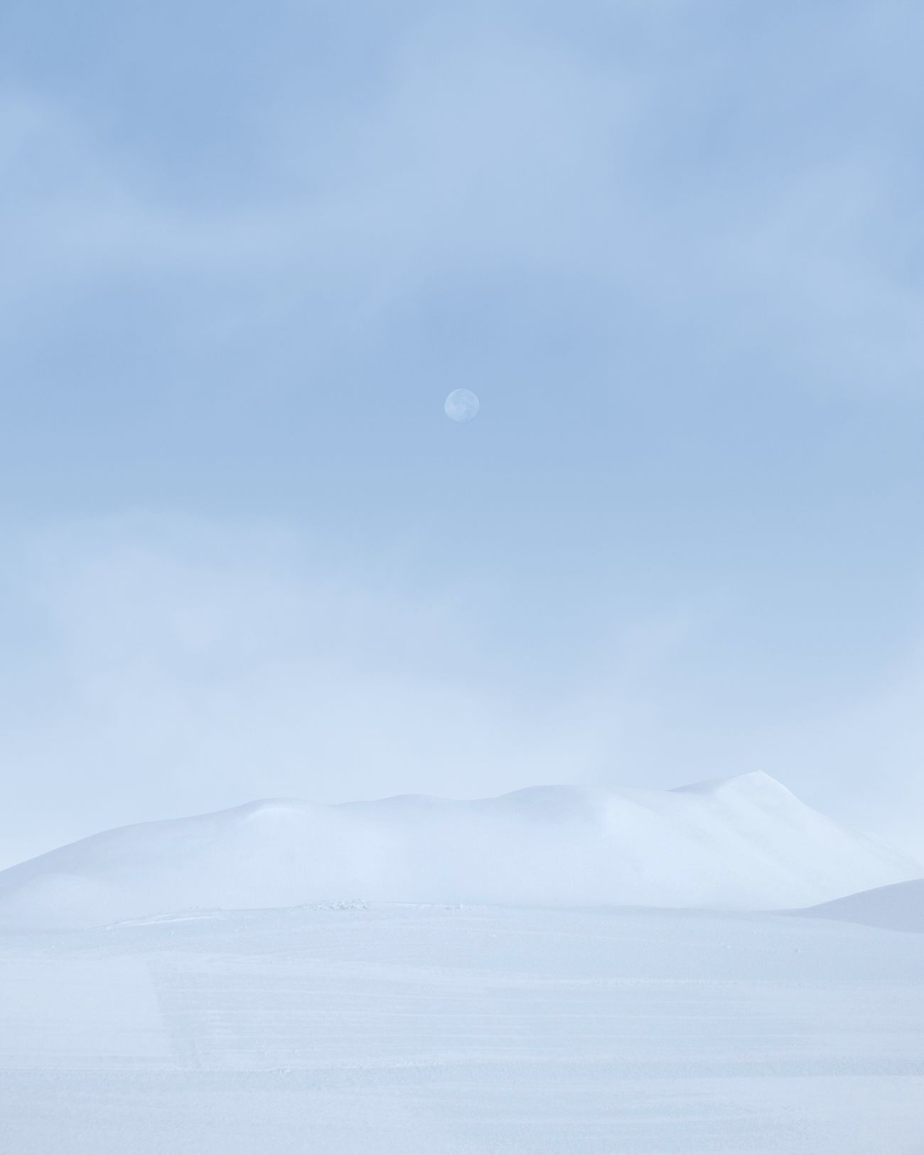 moon, no people, snow, nature, cold temperature