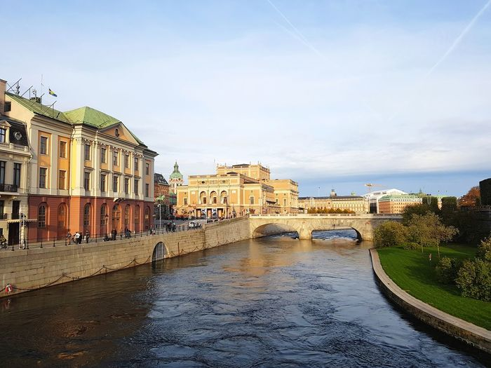 Stockholm Sweden, oldtown Gamlastan Skyline Sweden Stockholm Oldtown Sverige Bluesky Blue Baltic Buildings Scandinavia Pier Old Pier Old Buildings Garden Flowers,Plants & Garden Green Water City Cityscape Water Sky Architecture Building Exterior Cloud - Sky Palace Historic Royalty Old Town
