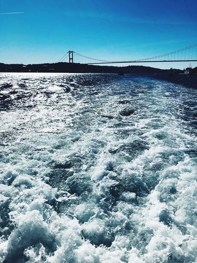 Istanbul Bridge EyeEm Selects Sky Nature Day Water No People Scenics - Nature Blue Clear Sky Sea Waterfront