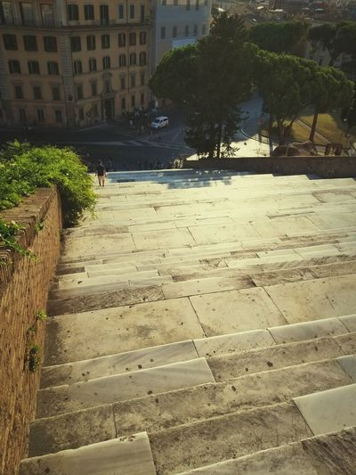 Stairs Sunset Man Walking Rome Italy Life WalkingAway Aroundtheworld Dailylife Staircase Stairway Tree City Water Sand Beach Architecture Building Exterior Built Structure Walkway Pathway Paved Scenics