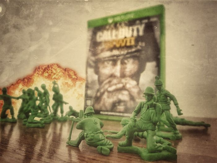 call of duty ww2. Gamer Arms EUA Military Worldwar2 World War 2 Callofduty Xboxone Green Color Indoors  No People Day Architecture