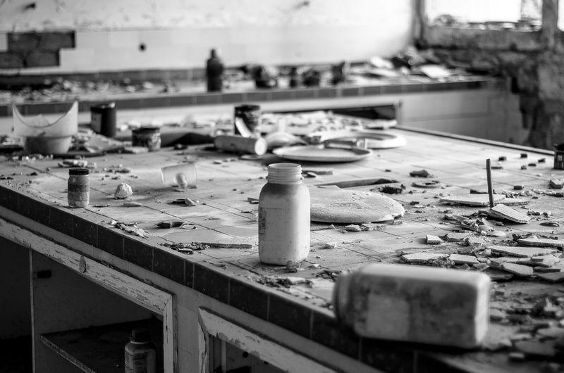 Interior of abandoned laboratory