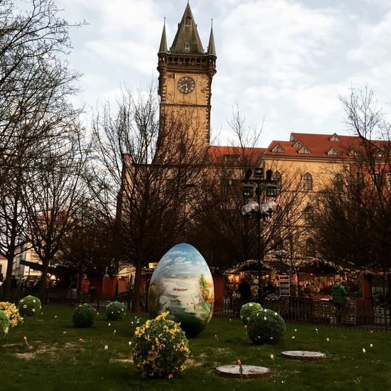 The beautiful and old Prague! Spring Has Arrived Prague Praha Old Town Square Easter Easter Eggs Clock Tower