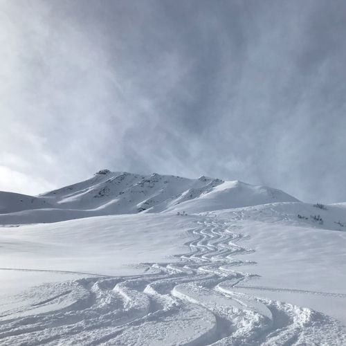 Powder Powder Snow Powderdays Cold Temperature Winter Snow Cloud - Sky Mountain Sky Snowcapped Mountain Nature Beauty In Nature No People Travel Destinations