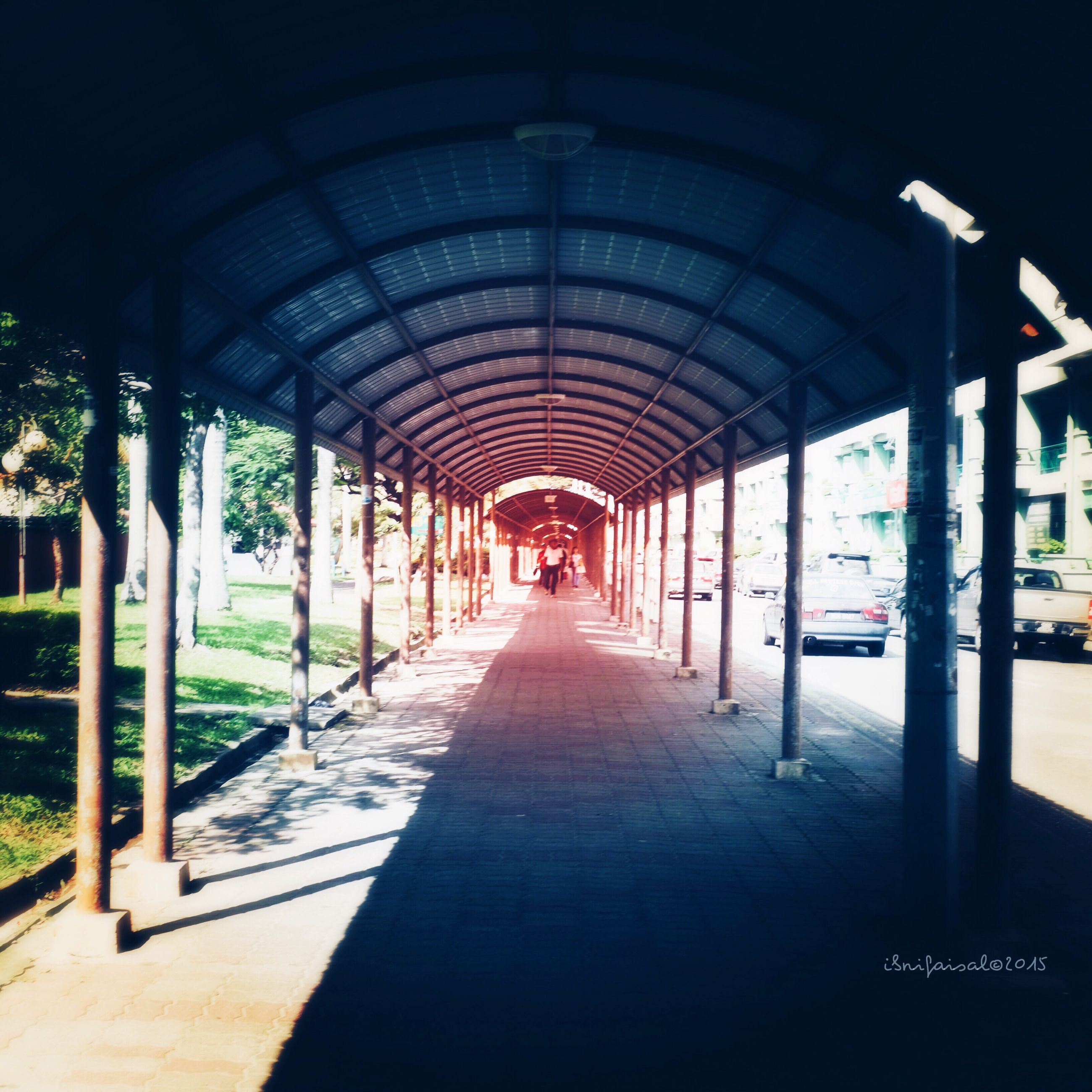 the way forward, diminishing perspective, built structure, architecture, transportation, vanishing point, architectural column, empty, in a row, indoors, column, incidental people, long, walkway, road, city, corridor, absence, colonnade, ceiling