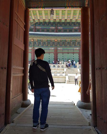 My Son Tripwithson2017 Tripwithsonmay2017 Seoul Southkorea Streetphotography Gyeongbokgung Palace, Seoul Joseon Dynasty Five Centuries 1392 -1897 Palace Architecture Seoul Architecture