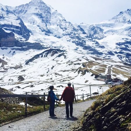It's great moment to see my Parents walk together, Handinhand . Because that's the only Proof for me the true Love does last. Jungfrau Kleine Scheidegg Snapshots Of Life IPhoneography Swiss Traveling Love Without Boundaries Getting Inspired Old But Awesome My Best Photo 2015