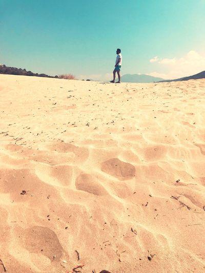 Desert in Turkey Antalya Kalkan Kalkan Antalya Turkey ShotOnIphone IPhoneography EyeEm Selects Sand Land One Person Child Real People Childhood