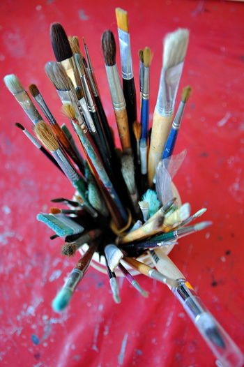 Art, Drawing, Creativity Close-up Day Indoors  No People Paint Painter - Artist Painting Brushes