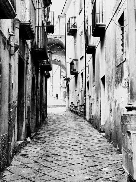 Historical Place Travel Destinations My Point Of View My Town EyeEm Best Shots - Black + White EyeEm Best Shots Benevento Sannio Campania Italia Italy Travelphotography Travel Destinations Building Exterior Architecture Built Structure The Way Forward Residential Building Alley No People Day Outdoors City