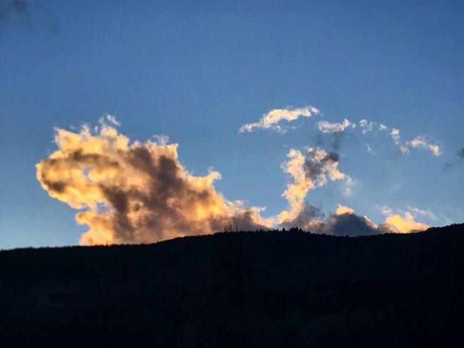 Sunrise_sunsets_aroundworld Sunrise Cloud Sky Silhouette Nature Tranquility Low Angle View No People Beauty In Nature Day Blue Scenics Outdoors