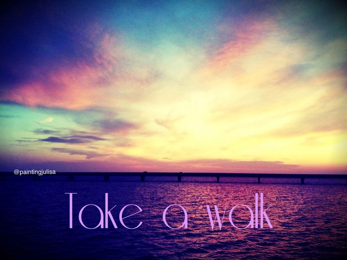 When you feel like nothing is going right, take a walk an relax Walk On The Bridge Relax Hun