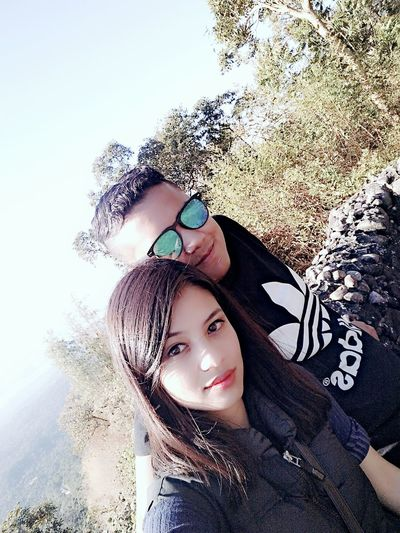 Taking Pictures With My Boyfriend <3 Having Fun :) Meghalaya Shillong :) Outdoors Outskirts In Shillong... Check This Out Mybaby