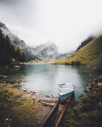 Looking forward to an adventurous summer.😉✖ Mountain Lake Beauty In Nature Water Tranquility Nature Scenics Sky Mountain Range Day Landscape Outdoors No People Tranquil Scene Tree Lakeside Nature Beauty In Nature Hiking Mountain Peak Cloud - Sky Switzerland Adventure Backpack Fog