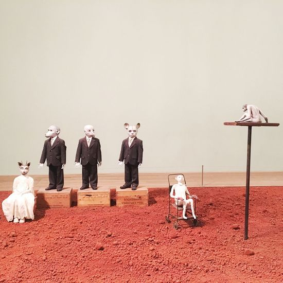 """Art installation of Jane Alexander """"African Adventures"""", Tate Modern, London / Dog Domestic Animals Animal Themes Pets One Animal Statue Day No People Art ArtWork Jane Alexander African Adventures TateModern Tate Modern Gallery Installation Art London"""