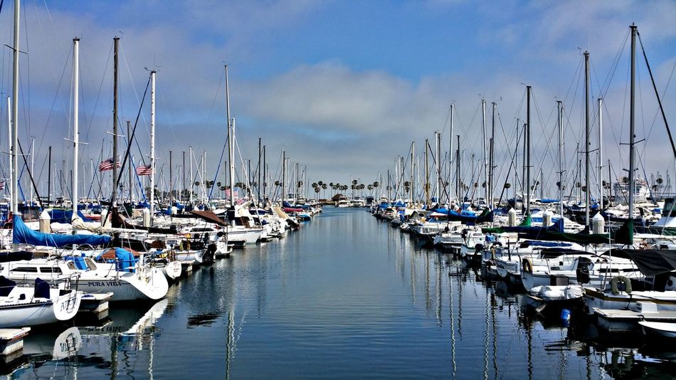 Water Nautical Vessel Sky Harbor Large Group Of Objects No People Outdoors Moored Sailboat Day Sea Sailing Ship Yacht Nature