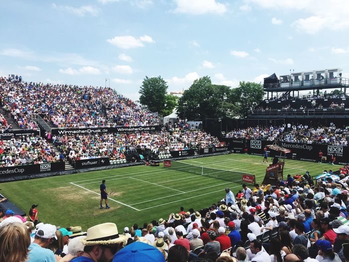 The best tennis player ever Large Group Of People Leisure Activity Lifestyles Crowd Men Person High Angle View Togetherness City Sky Built Structure Mixed Age Range Architecture Sport Stadium Competition Building Exterior Spectator Day Enjoyment Tenniscourt Tennis 🎾 Federer