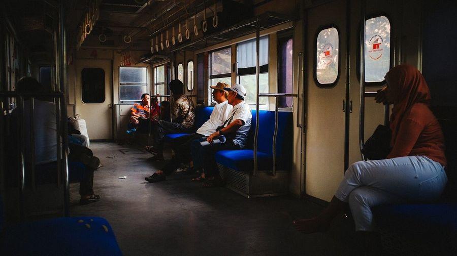 Inside Train Commuterline Passenger Jakarta INDONESIA Krl Kereta
