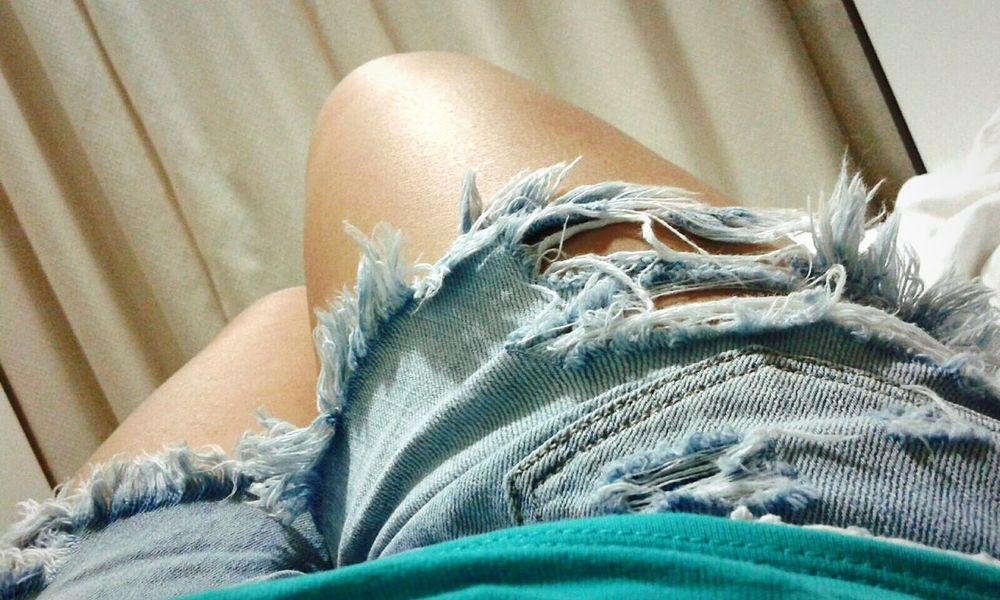 Close-up Shot Denim Shorts American Eagle Outfitters That's Me Relaxing