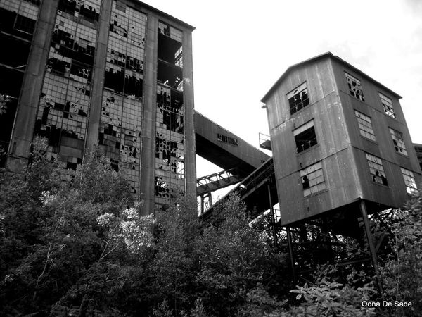 Abandoned Places Abandoned Buildings Old Coal Mine Blue Coal