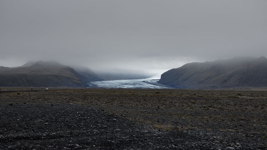 Vatnajökull glacier, Iceland. Mountain Environment Sky Land Landscape Nature No People Cloud - Sky Fog Non-urban Scene Glacier Iceland Ring Road Tranquil Scene