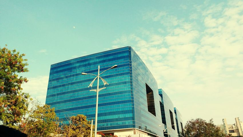 Blues.. 🏙 Buildings & Sky Shot_on_moto_g3 Mobilephotography Office Building Building Mobile Photography Exterior Architecture in Hyderabad , India