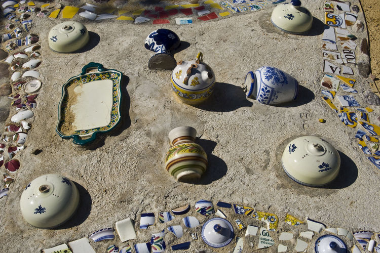 Ceramic Ceramic Art Ceramic Art Craft Ceramica Ceramics Day España High Angle View No People Outdoors Pottery Pottery Art Pottery Passion Pottery Pieces Pottery Talavera Potterygarden SPAIN Talavera Talavera De La Reina Toledo