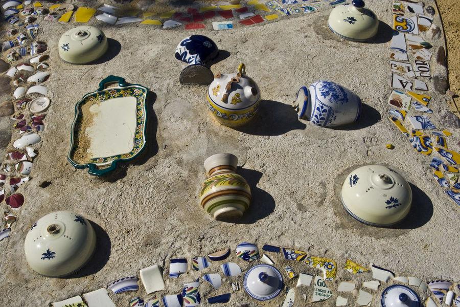 Ceramic Ceramic Art Ceramic Art Craft Ceramica Ceramics Day España High Angle View No People Outdoors Pottery Pottery Art Pottery Passion Pottery Pieces Pottery Talavera Potterygarden SPAIN Talavera Talavera De La Reina Toledo