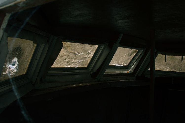 Boat Dark Empty No People Spiderweb Windows