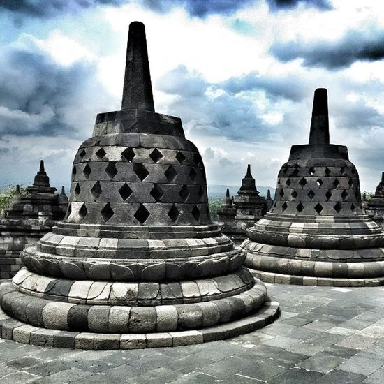 Religion Seven Wonders Of The World Seven Wonders Seven Temple Borobudur Temple Borobudur Travel Destinations History Cultures Sky Cloud - Sky Built Structure Ancient Civilization Place Of Worship