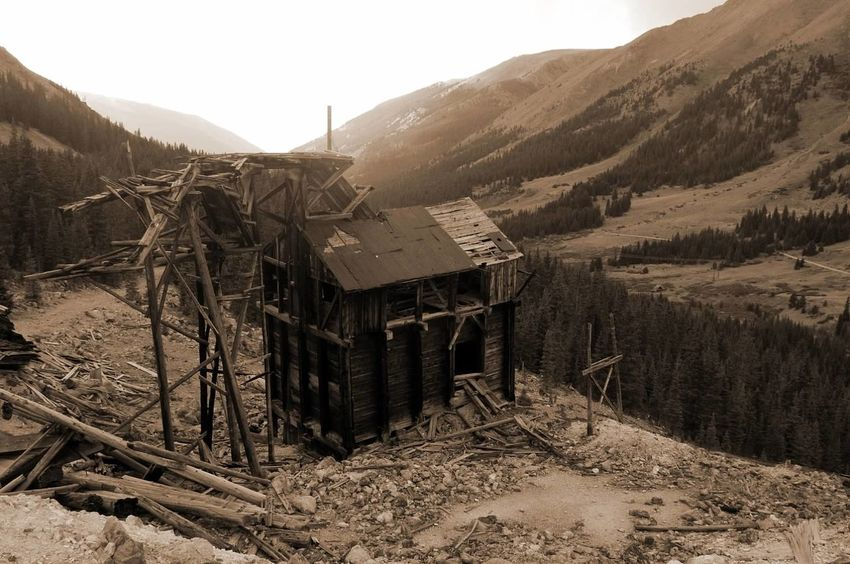Landscape Mountain Wood - Material Mining Weathered Ghosttowns Colorado Colorado Photography Mining Heritage Mining History Of America Built Structure Abandoned