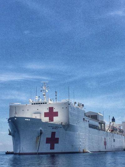 USNS Mercy. Usnsmercy Usns Pacificpartnership Ship Blue Sky Roxas City Hospital Ship